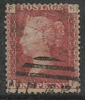 Great Britain, Queen Victoria 1859 -69, 1d Red, SG 43 / 44, Plate 79, Used - 1840-1901 (Victoria)