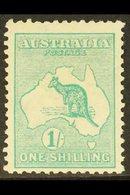 1913-14  1s Blue-green Kangaroo, SG 11a, Mint. For More Images, Please Visit Http://www.sandafayre.com/itemdetails.aspx? - Australie
