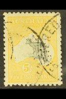1915  5s Grey And Yellow Kangaroo, 2nd Wmk, SG 30 Fine Postally Used. For More Images, Please Visit Http://www.sandafayr - Australie