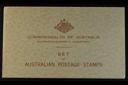 "1934 PRESENTATION PACK  A Grey Green Folder Inscribed ""Commonwealth Of Australia / Postmaster-General's Department / Set - Australie"