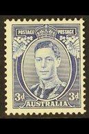 1937-49  3d Blue Die I WHITE WATTLES, SG 168a, Fine Mint, Very Fresh For More Images, Please Visit Http://www.sandafayre - Australie