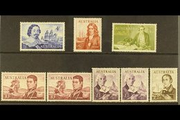 1963-65  Explorer Set Plus White Paper Variants, SG 355/60, Never Hinged Mint (8 Stamps) For More Images, Please Visit H - Australie