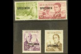 """1966  Navigators High Values Ovptd """"SPECIMEN"""", SG 400s/403s, Very Fine Never Hinged Mint. (4 Stamps) For More Images, Pl - Australie"""