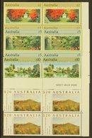 1989  High Values Set ($2-$20), SG 1199/1201a, Never Hinged Mint Corner Blocks Of 4 Stamps. Face Value AU$ 148. (16 Stam - Australie