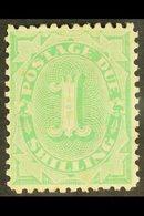 POSTAGE DUE  1902 1s Emerald Green, SG D19, Very Fine Mint. For More Images, Please Visit Http://www.sandafayre.com/item - Australie