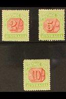 POSTAGE DUE  1909-10 High Values Trio Including 2s, 5s & 10s, SG D70/72, Fine Mint (3 Stamps) For More Images, Please Vi - Australie