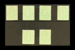 POSTAGE DUES  1906 Complete Set To 6d Green, Wmk Crown Over Single Line A, SG D45/50, Very Fine Mint (6d No Gum) (6 Stam - Australie