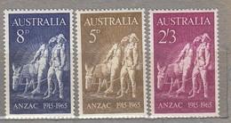 AUSTRALIA 1965 Anzac MNH(**) Mi 349-351 #24207 - 1952-65 Elizabeth II : Ed. Pré-décimales