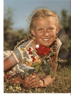 Old Musical 45rpm Record Postcard Schallbildkarte Kleine Lucienne Musette Walzer Olderp Froboess Gerd Schmidt - Vinyl Records
