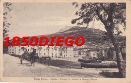 PORTO ERCOLE - PIAZZA S. ANDREA E MONTE FILIPPO F/PICCOLO VIAGGIATA  ANIMAZIONE - Grosseto