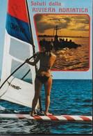 SALUTI DALLA RIVIERA ADRIATICA - SURF - VIAGGIATA 1983 PER L'ESTERO (SVIZZERA) - Saluti Da.../ Gruss Aus...