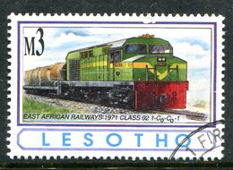 Lesotho 1993 African Railways - 3m Value Used (SG 1170) - Lesotho (1966-...)