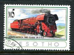 Lesotho 1993 African Railways - 5m Value Used (SG 1171) - Lesotho (1966-...)