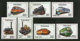 Tanzania 1991 Locomotive Train Railway Transport Sc 800-06 MNH # 307 - Trains