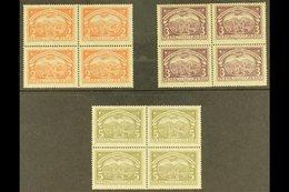 SCADTA  1923 2p Red Orange, 3p Violet And 5p Olive Green (Scott C48/50, Mi 37/39) In Fine Mint BLOCKS OF FOUR, Minor Gum - Colombie