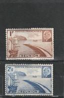 Réunion Neuf *  1941  N° 178/179  Rade De Saint Denis Et Maréchal Pétain - Unused Stamps