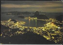 BRASILE - RIO DE JANEIRO - PANORAMA NOTTURNO - VIAGGIATA 1980 PER LA SVIZZERA - Rio De Janeiro