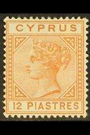 1892-94  12pi Orange Brown, Die II, SG 37, Very Fine Mint. For More Images, Please Visit Http://www.sandafayre.com/itemd - Chypre