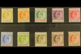 1904-10  KEVII (wmk Mult Crown CA) Set To 12pi, SG 60/69, Very Fine Mint. (10 Stamps) For More Images, Please Visit Http - Chypre
