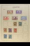 """1866-1963 FINE CLEAN COLLECTION  On """"Schaubeck"""" Leaves, All Different Mint Or Used. Note Good Range 19th Century/early 2 - Égypte"""