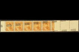 1953  1m Orange-brown With Bars Overprint, SG 438, Never Hinged Mint Horizontal STRIP OF 10 With Diagonal Overprints And - Égypte