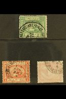 USED IN CONSTANTINOPLE  1867 20pa & 1pi SG 13, 14, 1879 10pa SG 45 All Cancelled By Egyptian PO In CONSTANTINOPLE Cds Pm - Égypte