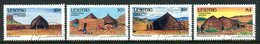 Lesotho 1993 Traditional Houses Set Used (SG 1173-1176) - Lesotho (1966-...)