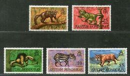 British Honduras 1968 Anteater Monkey Lion Dog Wildlife Animal Sc 217 MNH # 495 - Big Cats (cats Of Prey)