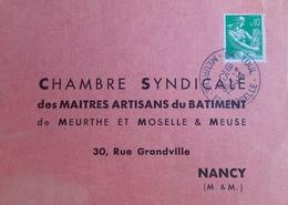 """R1949/297 - TYPE MOISSONNEUSE N°1231 Sur CARTON """" IMPRIME """" TOUL > NANCY - PUB Au Verso - CàD De TOUL Du 25 FEV. 1982 - France"""