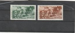 Réunion Neuf *  1942 Poste Aérienne N° 7/8  Protection De L'enfance Indigène - Unused Stamps
