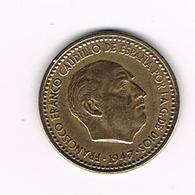 &-  SPANJE  1 PESETA  1947 ( 53 ) - [ 4] 1939-1947 : Gouv. Nationaliste