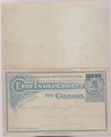 Entier  Postal Stationery - Congo Belge - BOMA  - Double Avec Carte Réponse -  15c Bleu + 15c Orange - 1909 - Entiers Postaux