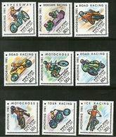 Mongolia 1981 Motorcycle Race Automobile Diamond Odd Shaped Sc 1157-65 MNH #1465 - Motorbikes