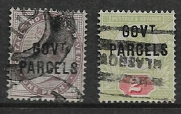 Great Britain, Official, Queen Victoria 1890 -1900, Government Parcels,  1d, 2d, Used, - Officials
