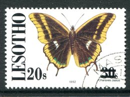 Lesotho 1995 Butterfly Surcharge - 20s On 30s Used (SG 1214) - Lesotho (1966-...)