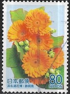 JAPAN (SHIZUOKZ PREFECTURE) 2004 Flora - 80y - Gerbera FU - 1989-... Empereur Akihito (Ere Heisei)