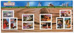 RC 12030 FRANCE BF N° 113 PORTRAITS DE REGIONS LA FRANCE A VIVRE N° 10 BLOC FEUILLET NEUF ** A LA FACIALE - Sheetlets