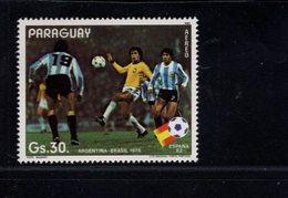 739900577  POSTFRIS MINT NEVER HINGED POSTFRISCH EINWANDFREI  SCOTT 2053 WORLD CUP SOCCER CHAMPIONSHIPS SPAIN - Paraguay
