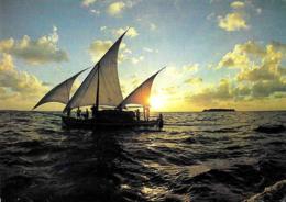[MD3001] CPM - MALDIVE - DHONI FISHING BOAT - ART EDITION - BY ERIC KLEMM - Non Viaggiata - Maldiven