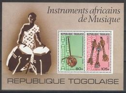 Togo - Bloc - YT 101 ** - 1977 - Instruments Africains De Musique - Togo (1960-...)