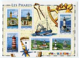 RC 12031 FRANCE BF N° 114 LES PHARES BLOC FEUILLET NEUF ** A LA FACIALE - Blocs & Feuillets