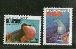 Ecuador 1992 Fragata Birds California Sea Lion Marine Animal Sc 1283 MNH # 3806 - Birds