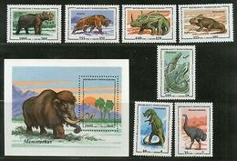Malagasy Republic 1995 Prehistoric Animals Dinosaur Mammoth Sc 1174-81 MNH #5103 - Stamps