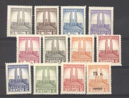 Belgique  -  Congo  :  Yv  214-25  * - Congo Belge