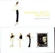 """BLOC SOUVENIR PHILATELIQUE N° 138 """"JEANNE LANVIN"""" Neuf Luxe Sous Blister. - Neufs"""