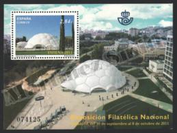 Spain - Espagne 2011 Yvert 4342, Architecture, EXFILNA, National Philatelic Exhibition - Miniature Sheet - MNH - 1931-Hoy: 2ª República - ... Juan Carlos I