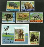 Liberia 1976 Elephant Leopard Wildlife Rhinoceros Animals Sc 763-C213 MNH # 5363 - Elephants