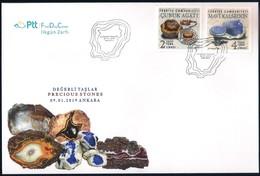 Turchia Turkey [2019] Minerals; Precious Stones - Official FDC - Minerals