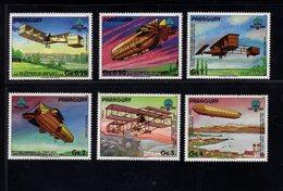 739903781  POSTFRIS MINT NEVER HINGED POSTFRISCH EINWANDFREI  SCOTT 2101A 2101F AIRPLANES AND ZEPPELINS - Paraguay