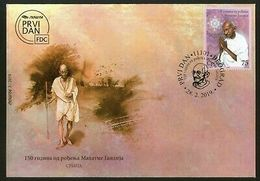 Serbia 2019 Mahatma Gandhi Of India 150th Birth Anniversary FDC # 7654 - Mahatma Gandhi